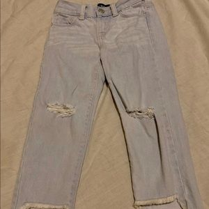 Girls size 5 old navy crop jeans worn once